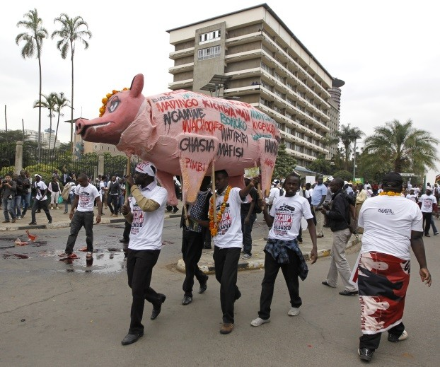 MPigs protest, May 2013.