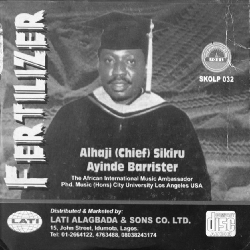 A selection from the 60 albums produced by Ayinde Barrister in his career spanning 1972-2008