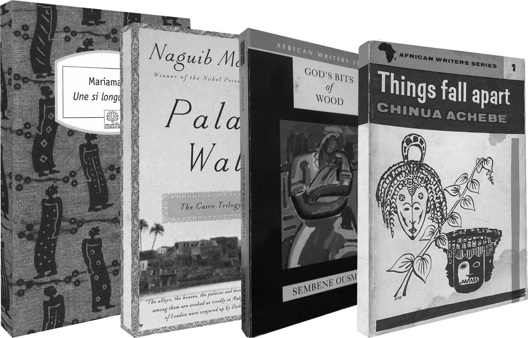Une si longue lettre Mariama Bâ Heinmann, 1981; Palace Walk Naguib Mahfouz Anchor (reissue), 2011; God's Bits of Wood Ousmane Sembène Heinmann, 1970; Things Fall Apart Chinua Achebe Heinmann, 1958