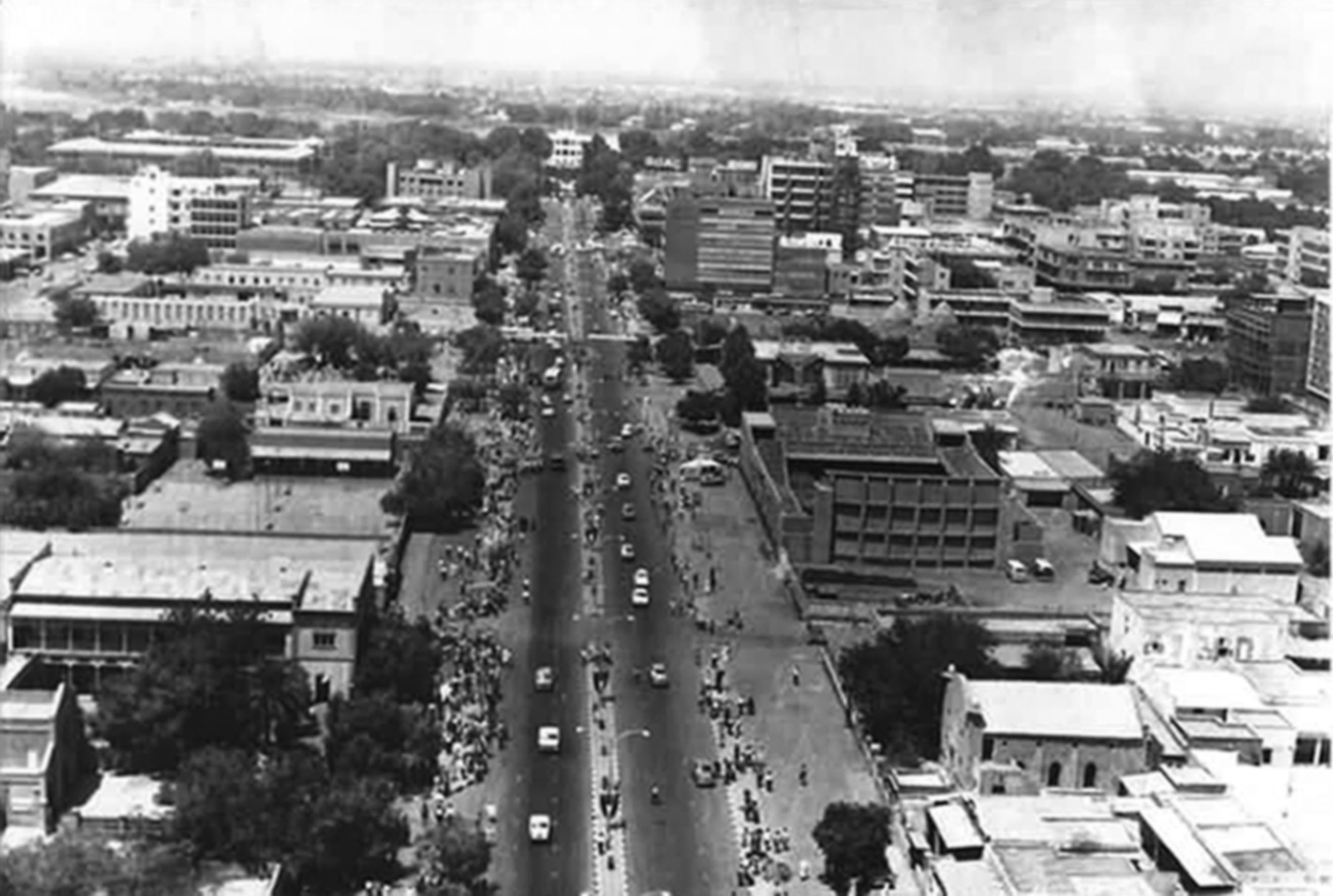 Aerial view of Khartoum, 1972