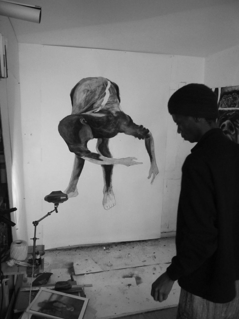 Unathi Sigenu at hi Paris studio, 2011.